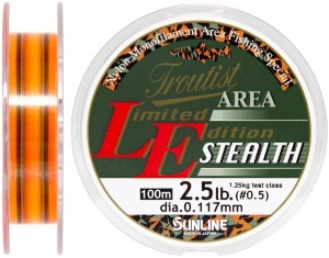 Леска Sunline Troutist Area LE Stealth 100m #0.5/0.117mm 1,25кг (1658.05.65)