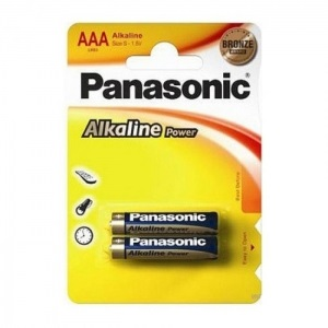 Батарея Panasonic ALKALINE POWER AАA BLI 2 (LR03REB/2BP)