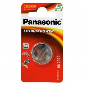 Батарея Panasonic CR 2450 BLI 1 LITHIUM (CR-2450EL/1B)