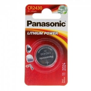 Батарея Panasonic CR 2430 BLI 1 LITHIUM (CR-2430EL/1B)